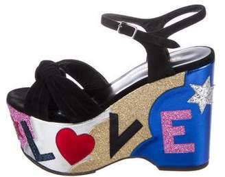 Saint Laurent Candy 50 Wedge Sandals