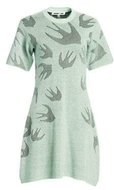 McQ Women's Swallow Knit Dress - Ice Mint - Size Large