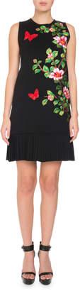 Andrew Gn Sleeveless Cherry Blossom Knit Dress