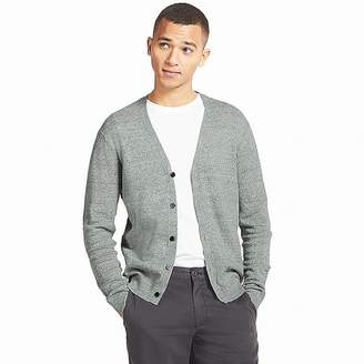 Uniqlo Men's Linen Blend V-Neck Long-sleeve Cardigan