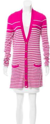 Magaschoni Striped Silk Cardigan