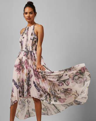 Ted Baker RUBAY Torchlit Floral pleated midi dress