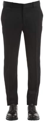 Alexander McQueen 17cm Mohair Wool Barathea Tuxedo Pants