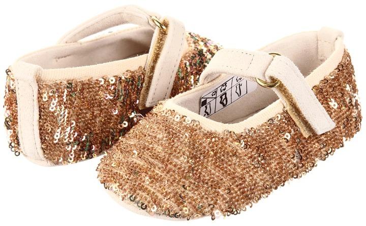 D&G LPDZB6-LLP0A Ballerina (Infant) (Light Gold) - Footwear