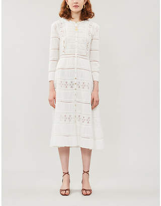 Reformation Elsie long-sleeved cotton midi dress