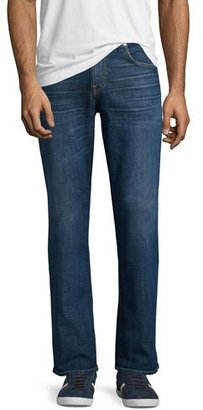 "7 For All Mankind Brett Modern Boot-Cut ""A"" Pocket Denim Jeans, Visionary $199 thestylecure.com"