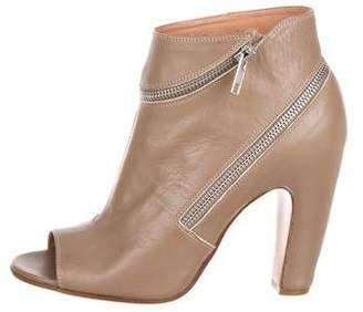 Maison Margiela Leather Open-Toe Booties