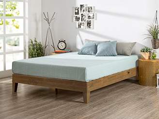 Zinus 12 Inch Deluxe Wood Platform Bed/No Boxspring Needed/Wood Slat Support/Rustic Pine Finish