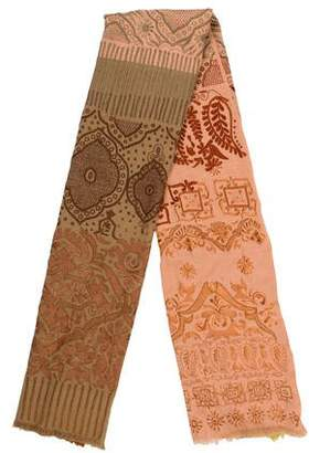 Dries Van Noten Embroidered Wool Scarf