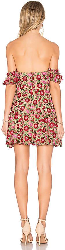 For Love & Lemons Amelia Strapless Mini Dress in Yellow 4