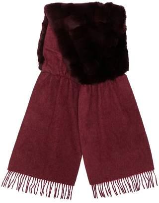 N.Peal contrast fringed scarf