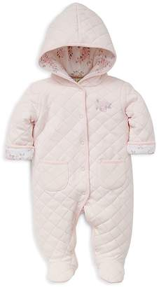 Little Me Girls' Quilted Rose Pram Footie - Baby