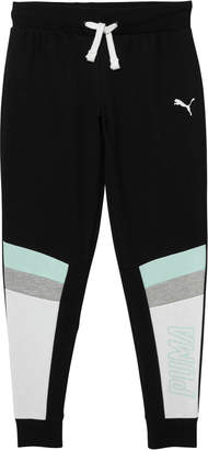 Girls Color Block Fleece Jogger Pants JR