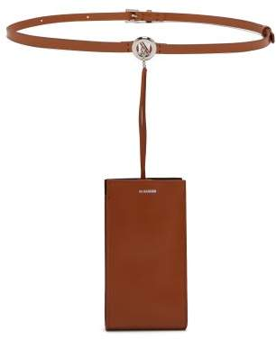 Jil Sander Iphone Case Leather Belt Bag - Womens - Tan