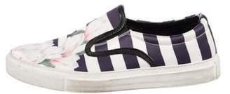 Mother of Pearl Printed Slip-On Sneakers