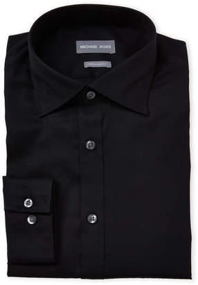 Michael Kors Black Regular Fit Dress Shirt