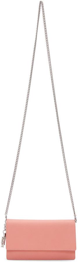 Alexander McQueenAlexander McQueen Pink Insignia Chain Bag