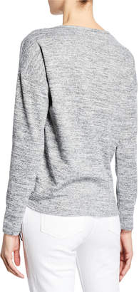 Neiman Marcus Long-Sleeve Side-Tie Pullover