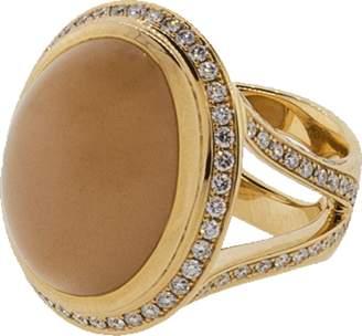 Tamara Comolli Small Brown Moonstone Cushion Ring