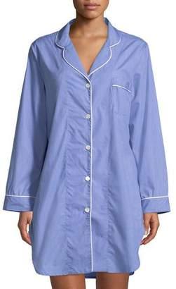P Jamas Contrast-Piping Sleepshirt