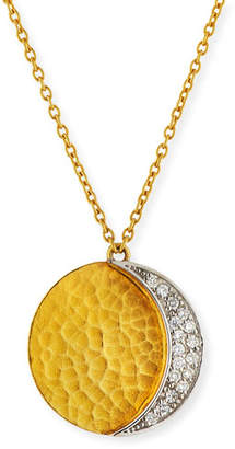 Gurhan 24k Gold Mango Diamond Pavé Pendant Necklace