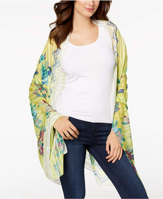 INC International Concepts I.N.C. Hummingbird Floral Sarong Cover-Up & Wrap, Created for Macy's