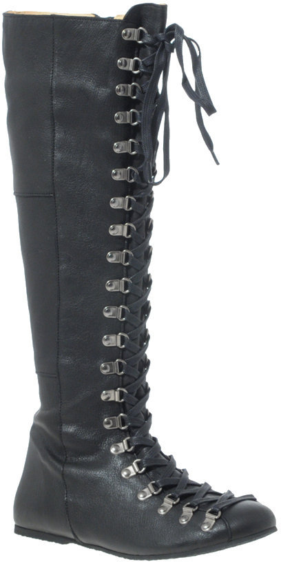 D.Co Copenhagen Leather Knee High Eyelet Boots