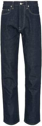 E. Tautz Straight leg raw jeans