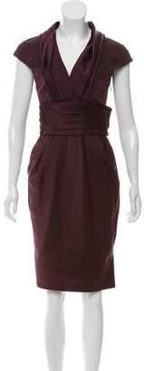 J. Mendel Gathered Silk Dress