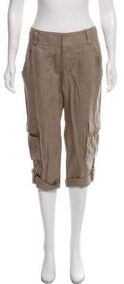 Alice + Olivia Linen Cropped Pants