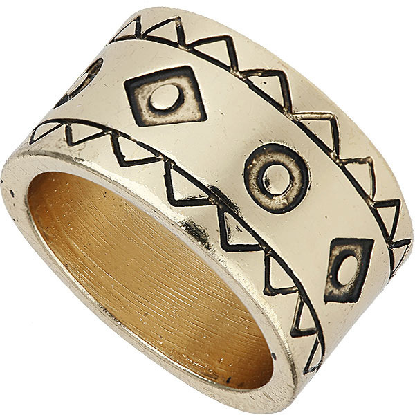 Topshop Aztec Patterned Band Ring