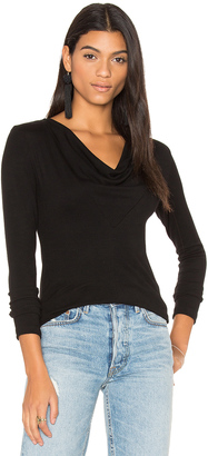 James Perse Cowl Neck Tee $145 thestylecure.com