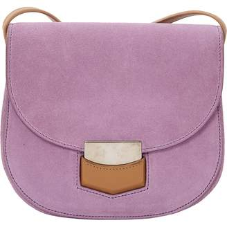 Trotteur Purple Suede Handbag