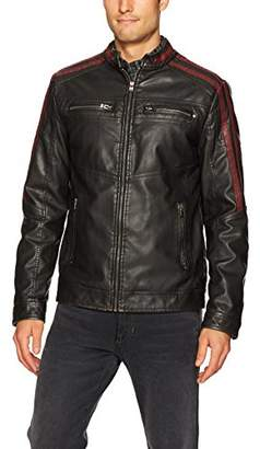 X-Ray Men's Slim Fit Faux Leather Racer Jacket