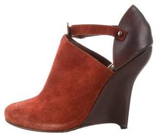Opening Ceremony Suede Wedge Pumps