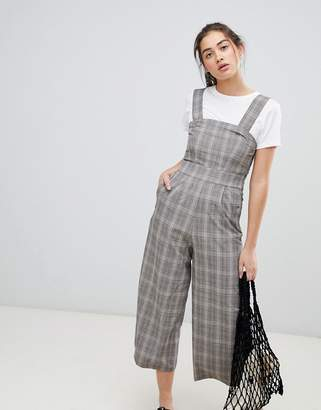 Pull&Bear woven overalls in check