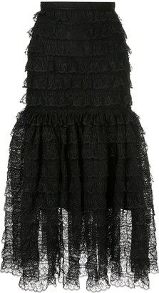 Bambah victorian lace midi skirt