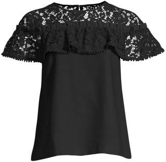 Draper James Collection Ruffle Lace Top