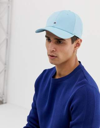 Tommy Hilfiger small icon flag logo baseball cap in light blue