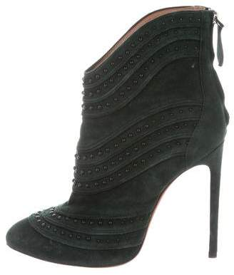Alaia Studded Ankle Boots