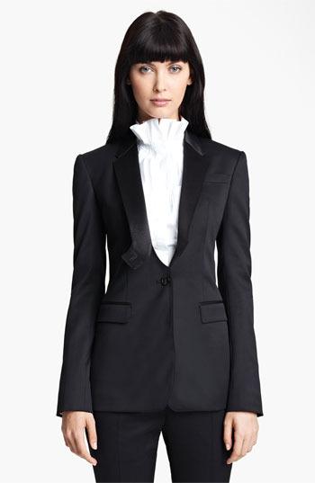 Burberry Stretch Wool Tuxedo Jacket 6 US / 42 IT