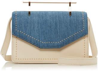 M2Malletier Indre Leather and Denim Bag
