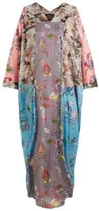 Vivienne Westwood Musa Abstract Print Draped Dress - Womens - Pink Multi