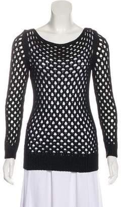 The Row Bateau Neck Crochet Sweater