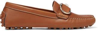 Salvatore Ferragamo Breno Leather Loafers - Tan