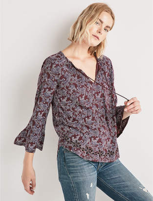 Lucky Brand 3/4 SLEEVE PRINTED TOP