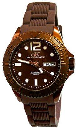 Adee Kaye adeekaye ak5433 Ladies D 'alluminio ' Day & Dateカラー腕時計 – ブラウン