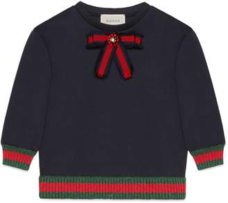 Gucci Children's jersey sweatshirt with bow