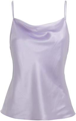 Fleur Du Mal Light Purple Cowl Neck Cami
