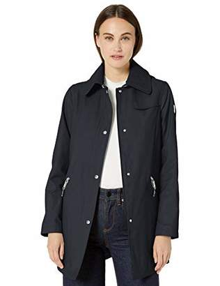 Vince Camuto Women's DNU Hooded Mid-Weight Jacket Outerwear, Navy, XL